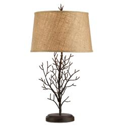 "Winterfall Rustic Lodge Iron Twig Branch Lamp- 31""H"