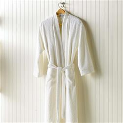 Peacock Alley Modern Bamboo Bathrobe - White Small/Medium