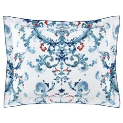 Peacock Alley FrenchCountry Alena Printed Sateen Sham - Aqua Standard
