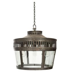 "Lafayette Industrial Warehouse Old Steel 22"" Pendant Fixture"