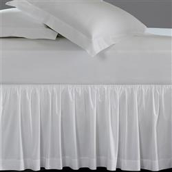 Sferra Coastal Celeste Bed Skirt - White Queen