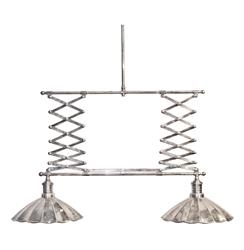 Accordian Extendable Industrial Modern Billiard Island Light