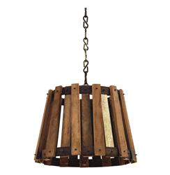 Vintage Barrel Crate Old Wood Pendant Lamp