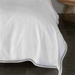 Sferra French Country Giza 45 Trina Duvet Cover - White Queen