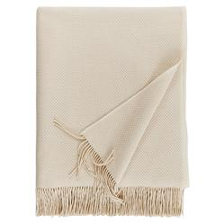 Sferra Modern Bristol Fringed Throw - Cream