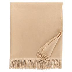 Sferra Modern Dorsey Throw - Almond