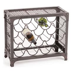 Manhattan Industrial Loft Mesh Wire Wine Rack