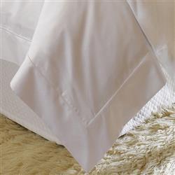 Sferra Modern Giza 45 Percale Duvet Cover - White Queen