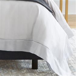 Sferra Modern Giza 45 Stripe Duvet Cover - White Queen