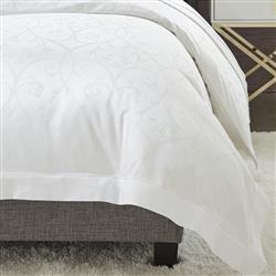 Sferra Modern Somina Duvet Cover - White Queen