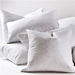 Pom Pom French Country White Hypoallergenic Feather Down Pillow Insert - Standard