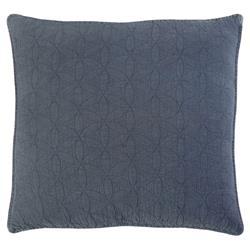 Pom Pom French Country Oslo Blue Denim Cotton Sham - Large Euro