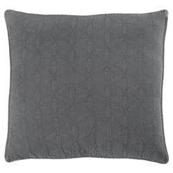 Pom Pom French Country Oslo Grey Denim Cotton Sham - Large Euro