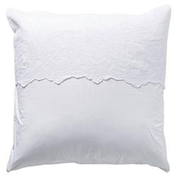 Pom Pom French Country Grace Sham - White Euro