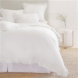 Pom Pom French Country Mathile White Linen Sham - Standard