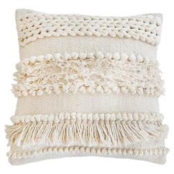 Pom Pom French Country Iman Hand Woven Pillow - Ivory