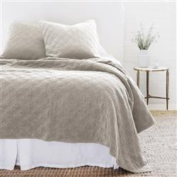 Pom Pom French Country Brussels Sham - Taupe Large Euro