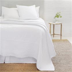 Pom Pom French Country Marseille White Cotton Sham - Large Euro