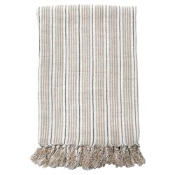 Pom Pom French Country Newport Throw - Midnight Natural