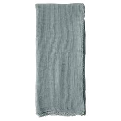 Pom Pom French Country Venice Throw - Dusty Blue