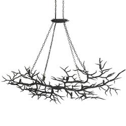 Boca Dramatic Branch Rustic Wrought Iron 14 Light Chandelier