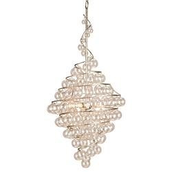 Wishmere Glass Bauble Spiral Helix 4 light Chandelier