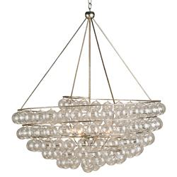 Modern Glass Bauble Round 4 Light Chandelier