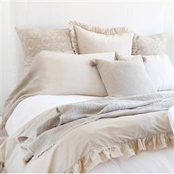 Pom Pom French Country Madison Duvet Set - Taupe Queen