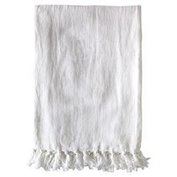 Pom Pom French Country Montauk Blanket - White King