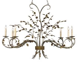 Boca Leaf Branch Organic Style 6 Light Chandelier | Kathy Kuo Home