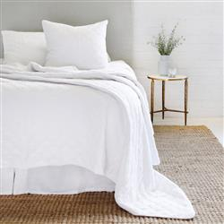 Pom Pom French Country Brussels Coverlet - White Queen