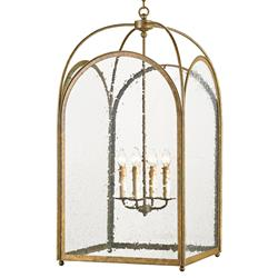 Glass Iron Arched Hanging Lantern 4 Light Lantern Pendant
