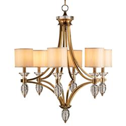 Sebastian Traditional 6 Light Bronze Crystal Chandelier