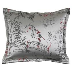 Ann Gish Regency Chinoiserie Pillow Silver - 22x18