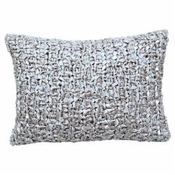 Ann Gish Regency Ribbon Knit Pillow Silver - 20x14