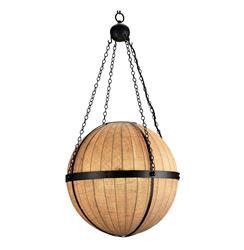 Modern Rustic Grande Orb Pendant Lantern