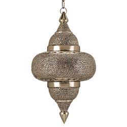 Fez Modern Pierced Metal Kasbah Pendant Lamp