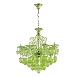 Bella Vetro 8 Light Pale Green Murano Glass Chandelier