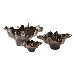 Delaine Modern Classic 6.5in Bronze Ceramic Bowl