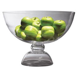 Dean Modern Classic Amphora Clear Glass Footed Bowl