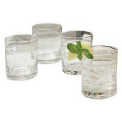 Colt Modern Classic Clear Glass Single Band Drinking Glasses - Set of 6