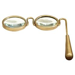 Davonta Modern Classic Gold Handle Magnifying Glass Sculpture