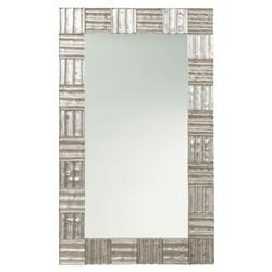 Arteriors Isabel Industrial Loft Antique Silver Rectangle Mirror