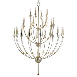 Modern Silver Gold 28 Light 3 Tier Chandelier