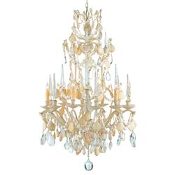 Crystal Seashell 6 Light Baroque 2 Tier Chandelier