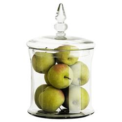 Eichholtz Modern Classic Fauchere Clear Lidded Decorative Glass Jar - Small
