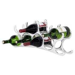 Eichholtz Industrial Loft Alboran Polished Aluminum 9-Bottle Wine Rack
