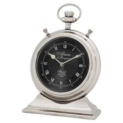 Eichholtz Industrial Loft Alain Silver Table Clock - Small
