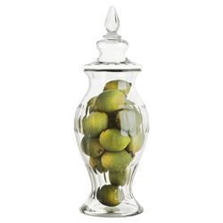 Eichholtz Modern Classic Haubert Amphora Clear Lidded Glass Jar - Small