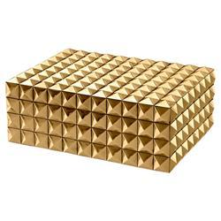 Eichholtz Industrial Loft Viviënne Rectangular Decorative Box - Gold - Small